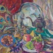 «Натюрморт с медным чайником», Автор: Виолетта Кнутова
