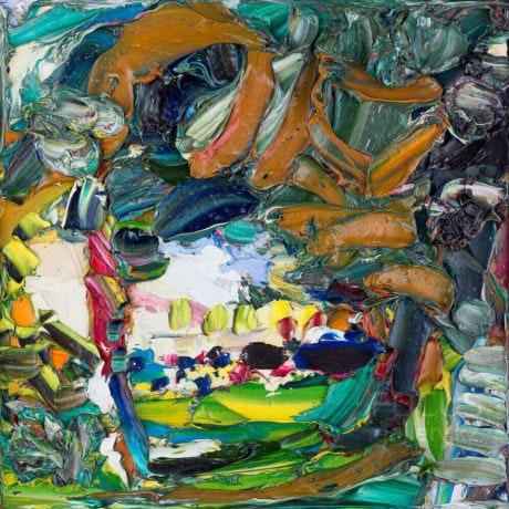 живопись, пастозная живопись, коллекционная живопись, пейзаж Алматы, пейзаж с натуры, Николай Газеев