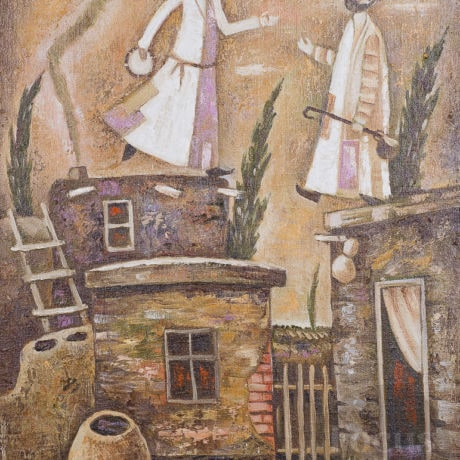 Dervishes On The Roof by artist Khashim Kurban (Almaty, Kazakhstan). Focus Gallery.