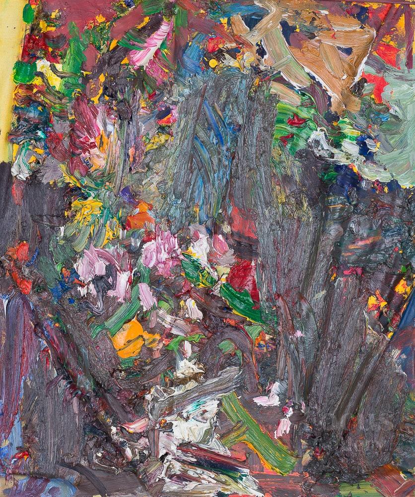 """«Дождь - осенний сад, листья, трава, земля, цветные лужицы."""", художник Николай Газеев"""