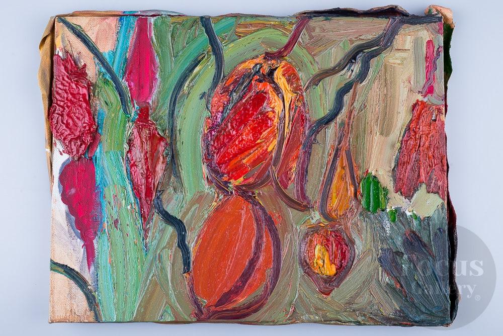 """""""Вечер. Красное в тюльпанах - красный костер."""", художник Николай Газеев."""