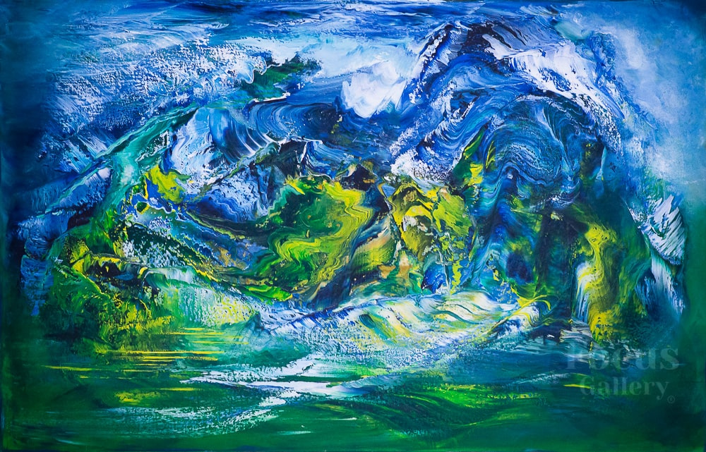 """Kok Zhailau"" canvas, oil 80x120 cm. 2020 Kudryavtseva Tatiana (Almaty, Kazakhstan)"